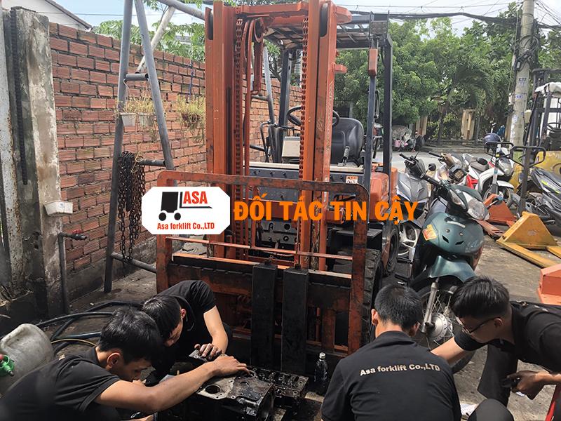Đội Ngũ kỹ thuật của Công Ty ASA nhận sửa chữa tất cả các loại xe nâng tại quận 5