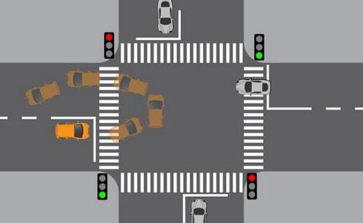 Nếu muốn quay đầu xe thì bạn nên bật xi nhan trước ngã tư gần nhất khoảng 20m